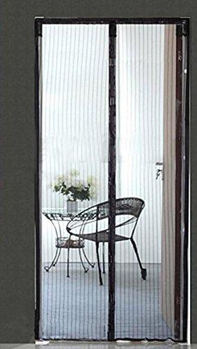 FakeFace Fliegengitter Magnetvorhang für Türen aus Polyester Moskitonetz Insektenschutz Türvorhang 100 x 210 CM (Schwarz)
