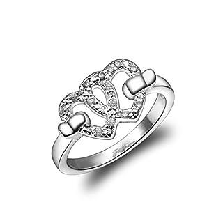 amberma My Begeisterung Basic Jewellery Collection Silber Ringe, Damen Schmuck, Geburtstag Geschenke für Mädchen FRIENDS Brautjungfer Presents (Größe P)