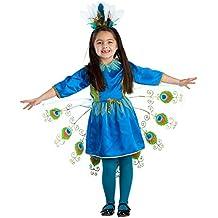 Viste a América - 828-S - traje de pavo real haciendo volteretas - 4-6 años - 107 cm cintura - Multicolor