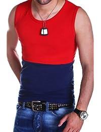 MT Styles T-Shirt Débardeur contrasté homme T-17