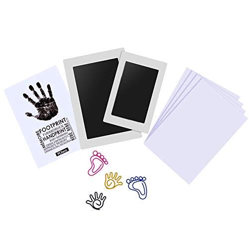 PChero 2pcs Kit von Pads Pads Impressum von Handabdruck Baby Handprint sauber perfekt für Familie Baby Shower Andenken Geschenk, groß/mittel