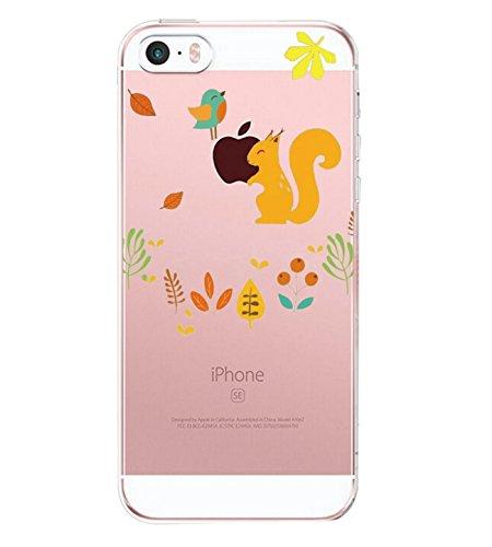 APPLE IPHONE SE 5 5S Hülle Pacyer ® Weich Silikon TPU Schutzhülle Ultradünnen Case für Apple iPhone 5 /5S/SE Schutz Hülle ( Mädchen Häschen) (1) 15