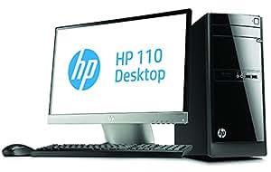 """HP 110-420nfm Unité centrale + écran 22"""" Noir (Intel Pentium, 4 Go de RAM, Disque Dur 2 To, Windows 8.1)"""