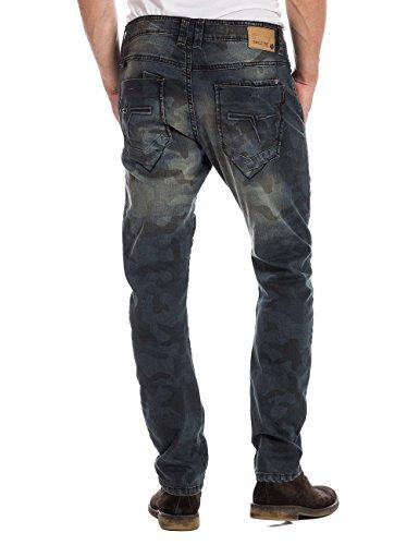 Timezone OskarTZ 3D - Jeans - Relaxed - Homme Bleu (printed Camo Wash 3818)