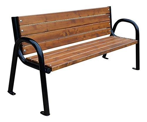 Krakwood Gartenbank, Terrassenmöbel, für Außenbereiche, Veranda, Moderne Bank -