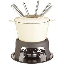 Master Class - Fondue de hierro fundido esmaltado (con 6 tenedores), color crema