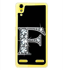 Alphabet F 2D Hard Polycarbonate Designer Back Case Cover for Lenovo A6000 :: Lenovo A6000 Plus :: Lenovo A6000+