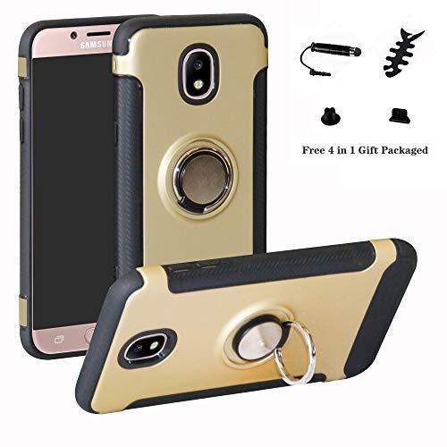 7f87cba24be LFDZ Galaxy J7 2017 Anillo Soporte Funda 360 Grados Giratorio Ring Grip con  Gel TPU Case Carcasa Fundas para Samsung Galaxy J7 2017 / J730 / J7 Pro ...