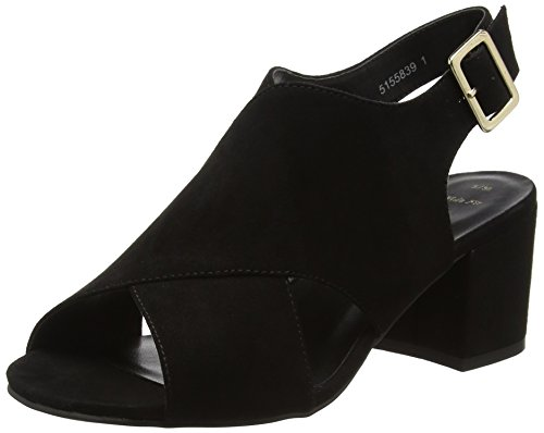 New Look Damen Wide Foot Tommy Pumps Schwarz (Schwarz)