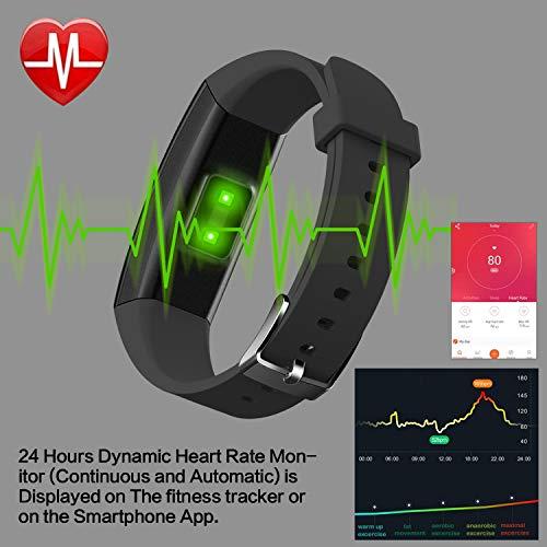 6c6fd30763a6 Pulsera de actividad, HETP Reloj Inteligente con Pulsómetro y Presión  Arterial Relojes Deportivos GPS Impermeable IP67 Monitor de Ritmo Cardíaco  ...