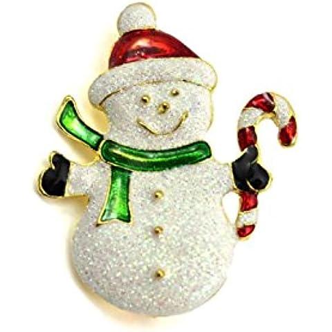 DAYAN Adornos de Navidad muñeco de nieve de Navidad broche de pin regalo