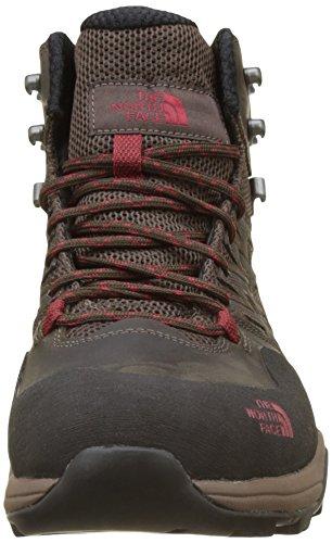 The North Face Hedgehog Hike Mid Gore-Tex, Chaussures de Randonnée Hautes Homme Marron (Dark Brown/rudy Red)