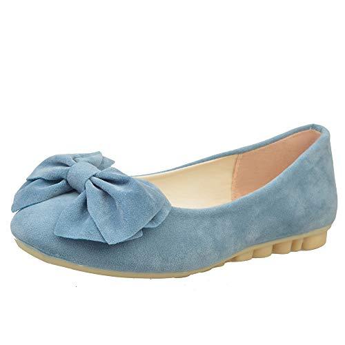 JiaMeng Frühling Flache Schuhe Mode Ballettschuhe Slipper Müßiggänger Schuhe Erbsen Schuhe ZXTY23.