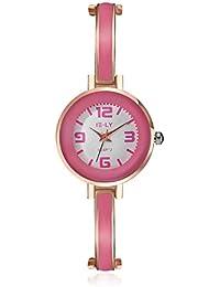 lekima encanto pulsera reloj esfera redonda pequeña anologue Lovely de cuarzo aleación banda reloj de pulsera regalo para las niñas Lady mujeres–rosa oro rosa