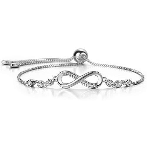 itszeichen Damen Armband in Silber mit funkelnden Schmucksteinen | Handmade mit Zertifikat | Geschenk für besondere Anlässe ()