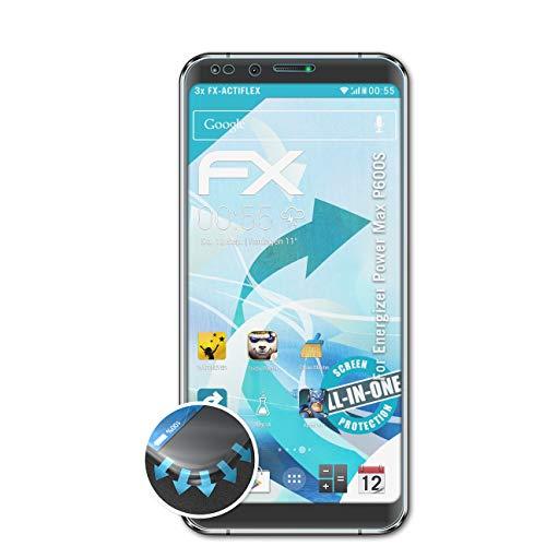 atFolix Schutzfolie passend für Energizer Power Max P600S Folie, ultraklare & Flexible FX Bildschirmschutzfolie (3X)
