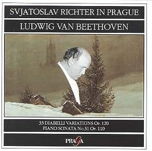 Richter in Prague, Beethoven : Variations Diabelli & Sonate n° 31 Op. 110 [Import anglais]