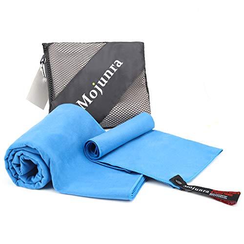 Mojunra Yoga Handtuch für Yogamatte Hot Yoga Handtuch rutschfest & Schnelltrocknend-Non Slip, Super Saugfähig, Schnelles Trocknen. Microfaser Handtücher für Sport, Fitness, Sauna-Frei Tragetasche