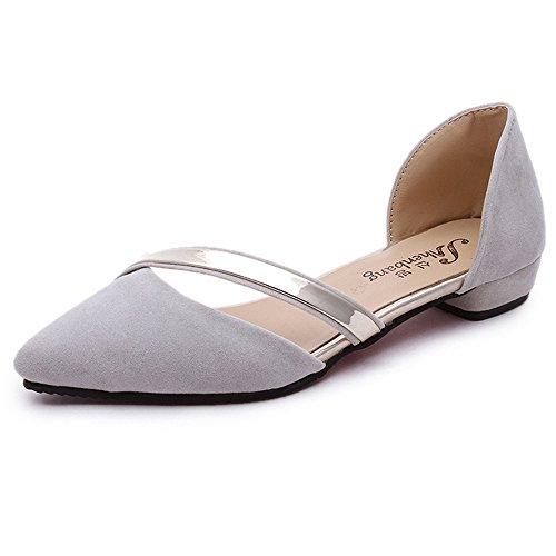 Damen-Schuhe, flache Schlupfschuhe, weich und elegant, aus Nubuk mit metallischem Akzent, beige - beige - Größe: 39 EU  (Elegant-flache Schuhe)