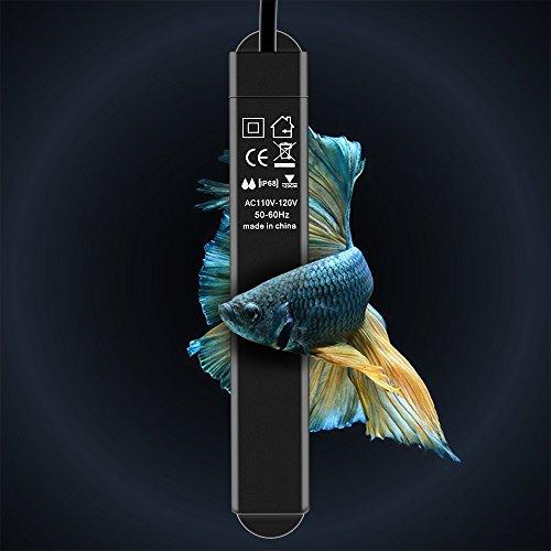 WOLFWILL Hochleistung Nato Aquarium Heizung, Heitzung für aquarien freundlich sicher splitterfrei Heizstab für Fische Schildkröte 25W -