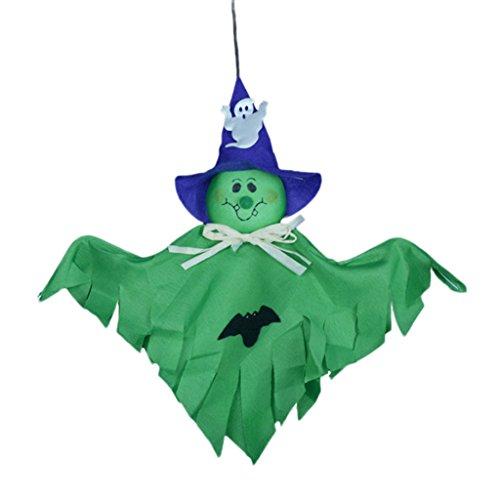Vovotrade Nettes Geist Halloween Dekoration Festival Party Versorgungsmaterial Kind lustiges Scherzen Spielwaren (Grün) (Raum Geist Kostüm Kind)
