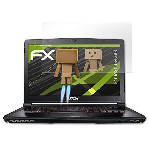 atFolix Bildschirmfolie kompatibel mit MSI GS43VR Spiegelfolie, Spiegeleffekt FX Schutzfolie