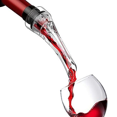 Kihappy Professional Aérateur de vin Bec verseur Bouchon Decanter Spout- Aérateur pour aérer vins en quelques secondes