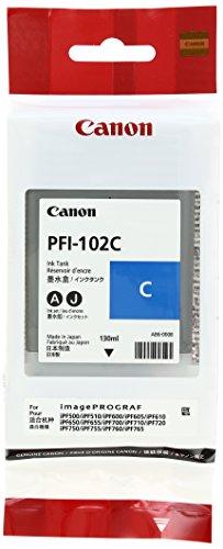 Galleria fotografica Canon - 0896B001AA - SERBATOIO CIANO PFI-102C LP17 / IPF500 / IPF600 / IPF605 / IPF610 / IPF700/IPF7