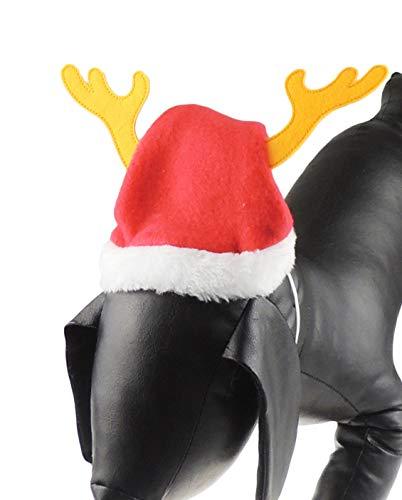 Festive piccola e grande cane gatto Babbo Natale cappello con corna