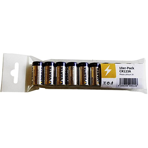 Varta Lithium-Batterie Typ CR123A für Kameras, 3 V, im 10er-Pack