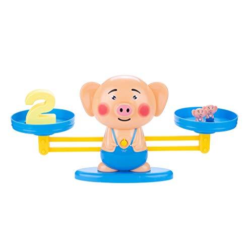 Vaycally Pig Balance Game Scales Frühes Lernen Gewicht Kind Kinder Intelligenz Spielzeug Digitale Addition und Subtraktion Game Intelligence Test Puzzle Bunte Lernspielzeug