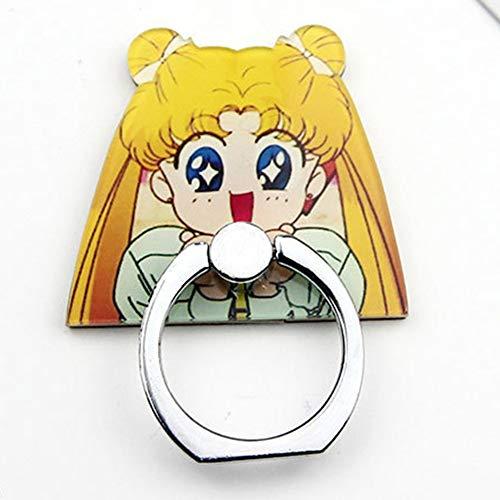 Alkohol Kostüm Tasche - ALTcompluser Anime Sailor Moon Handyhalter Fingerhalter, Smartphone Case Finger Griff Halter, Selbstklebende Handy Fingerhalterung Ringhalter Ständer(Stil 6)