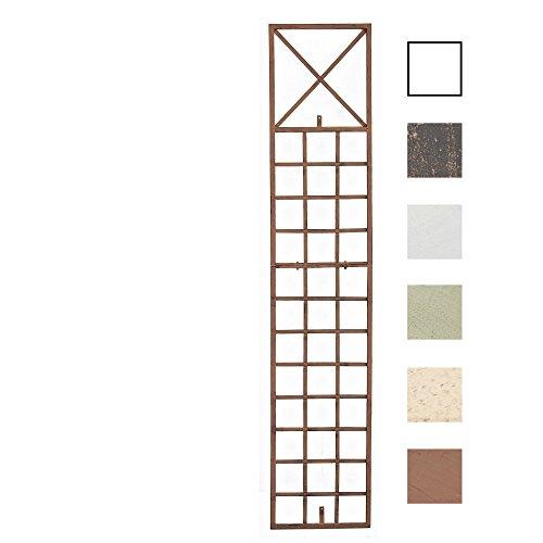 CLP 200 cm Metall-Rankgitter TRIGO aus Eisen zur Wandbefestigung, 200 x 40 cm, Wandflächen ganz einfach wunderschön gestalten Antik Braun