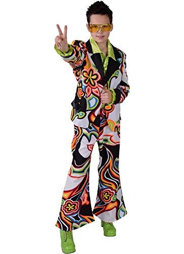 Thomas Kinder Kostüm - Partyanzug Travolta 70er Jahre Anzug mit Schlaghose 116