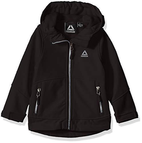 Reebok Girls' Little Active Hooded Softshell Jacket, Black, 4 Active Iv Softshell