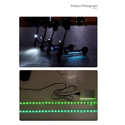 duquanxinquan Prämie Lichtleiste für Xiaomi Mijia M365 Elektro Scooter Ersatzteile Isoliert und Wasserdicht Faltbare LED-Streifen leuchtet bunt Elektroroller Zubehör, Rosa