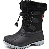 TQGOLD® Snow Boots Kids Winter Boots Boys Girls Waterproof Fur Lined Warm Walking Hiking Outdoor Boots