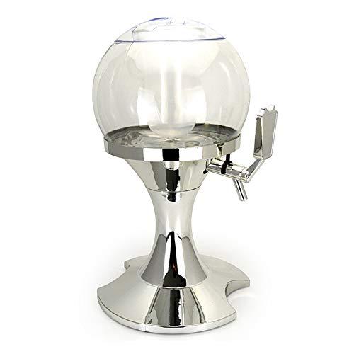 JANEFLY 3.5L Bierturm Getränkespender, Tabletop Bierturm mit separatem Eisfach und Wasserhahn, für Getränke Juice Party Home Bar Giraffe Bierturm,Silver - Tabletop-wein Kühler