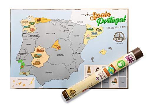 ESPAÑA by Benbridge - Mapa España Rascar - ¡Rasca