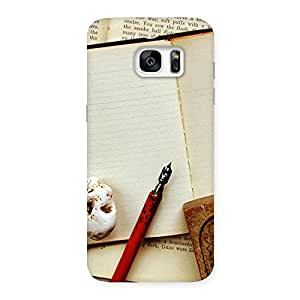 Cute Little Diary Back Case Cover for Galaxy S7 Edge