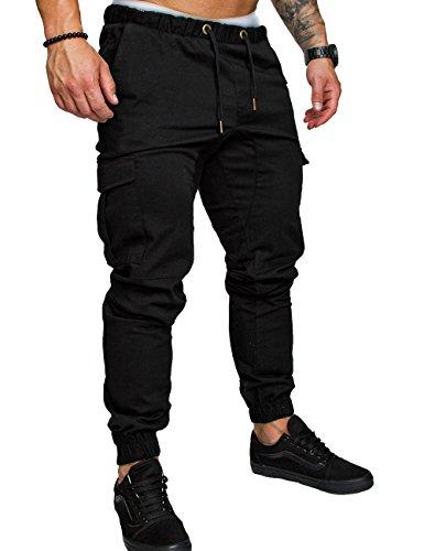SOMTHRON Hombre Cinturón cintura elástico Pantalones