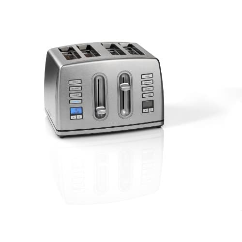41MB9zbg9GL. SS500  - Cuisinart CPT445U 4-Slice Brushed Stainless Steel Digital Toaster