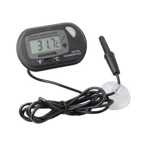 SODIAL(Wz.) Digital LCD Thermometer von -50 bis 70 Grad fuer Fischglas Aquarium Marinen Tiergarten
