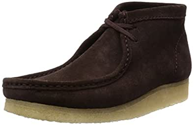 Clarks - Wallabee, Stringate da uomo, Dark Brown Suede, 39.5