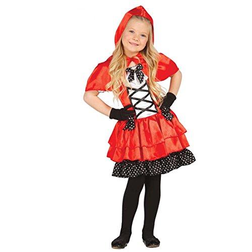 Amakando Märchenkostüm Mädchen Rotkäppchen Kostüm Kinder S 110/116 5 - 6 Jahre Kinderkostüm Märchenfigur Rotkäppchenkleid Karneval Outfit Mottoparty Faschingskostüm Kinderkarneval (Märchenfiguren Kostüm Für Jungen)