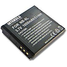 INTENSILO Li-Ion batterie 1000mAh (3.7V) pour appareil photo DSLR Canon Powershot SX540HS, SX540 HS remplace NB-6L.