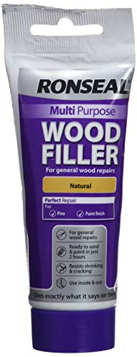 Ronseal RSLMPWFN100G 100g Multi-Purpose Natural Wood Filler Tube