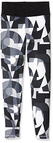 adidas Mädchen Leggings YG W F Tights, Schwarz/Grau/Weiß, 170, 4055344040577