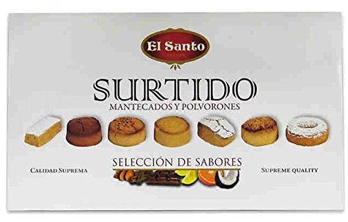 Mantecados et Polvorones assortis El Santo boîte 300grs - lot de 2 unités