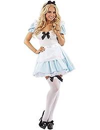MIXLOT Frauen sexy erwachsene Mädchen Alice im Wunderland Tee Party Halloween Kostüm Scary Creepy Fancy Kleid Größe